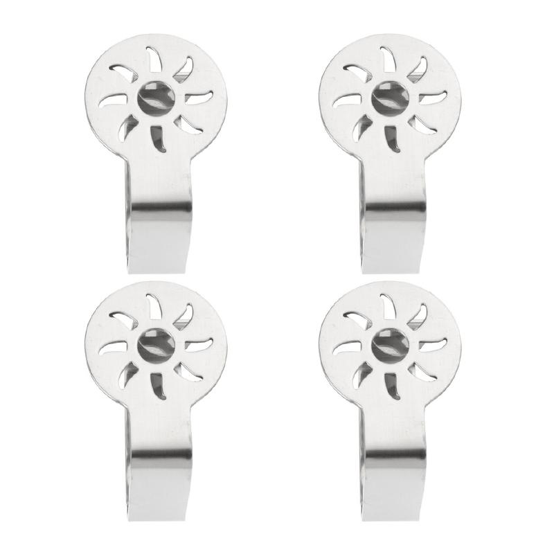 Clip Sujeta Mantel Inoxidable Diseño de Hoja en Set de 4 Piezas 7dfa95d53df7