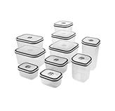 Recipientes Cuadrados  10 unidades  Plástico con Tapa Electrolux