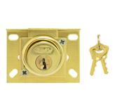 Cerradura cajón de 5 pin Silk Bronce Pulido Incluye 2 llaves por pieza
