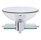 Mueble De Vidrio Aéreo Con Soporte Cromado 45x45cm
