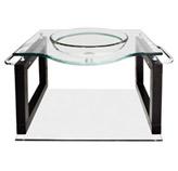 Mueble De Baño Aéreo Con Lavamanos y Mesón De Vidrio 70x56cm