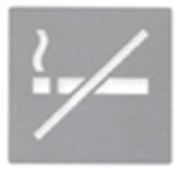 Señalética No Fumar Acero Inoxidable