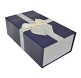 Caja para Regalo Azul Blanca con Cierre Magnético  Tiffany