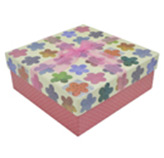 Caja para Regalo Flores Rosa