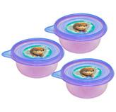 Recipiente Redondo Frozen 250ml 3 Piezas