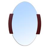Espejo Ovalado Con Madera