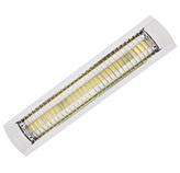 Lámpara Fluorescente con 2 Tubos para Sobreponer con Rejilla Reflectiva