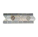 Listelo de Piedra Flechas Beige / Gris 10x30cm