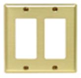 Placa Plástica en Bronce 2 Módulo C/Tornillos Decora