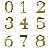 Número en Bronce Antiguo