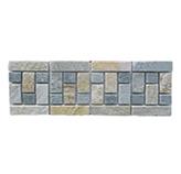 Listelo de Piedra Gris Beige Cuadros 12x30cm