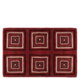 Alfombra en lana seda Cube Rojo