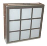 Plafón de vidrio Hidt en Cromo/Satín