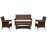 Mueble De Patio Cocoplum Wengue de 4 Piezas