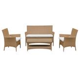 Mueble De Patio Cocoplum de 4 Piezas