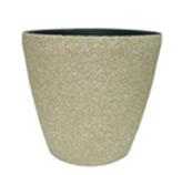 Macetero  Forma de Vaso Beige Texturizado