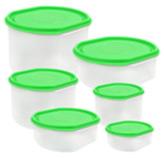 Ovalware Transparente con Tapa Verde
