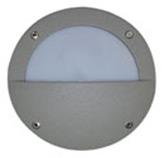 Lámpara de pared 18 leds para exterior Aluminio Oxidal Media Luna en Mate