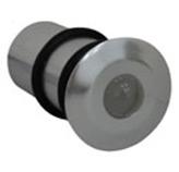 Ojo de Buey Empotrable 1 Led para Exterior Aluminio Oxidal en Cromo satín