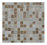 Mosaico de Vidrio Mix Blanco Café Brillo 32.7x32.7cm (.107)