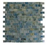 Mosaico de Vidrio Turquesa Transparente 32.7x32.7cm (.107)