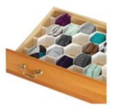 Organizador Hexagonal con Divisiones Plásticas para Cajón