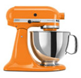 Batidora de 4 litros Naranja con Base Artisan Kitchen Aid