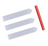 Marcadores Plásticos Blancos para Plantas en Set