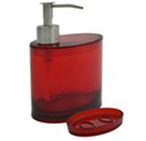Accesorios para Baño Oval Rojo Coza