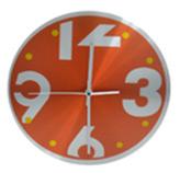 Reloj de Pared Inoxidable Naranja