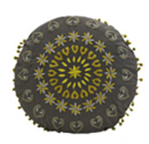 Cojín Gris Amarillo de 45 cm Diámetro