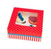 Caja Hip Hip Horray para 4 Cupcake en Set de 2 Piezas Daisy Darcy
