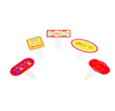 Letrero Hip Hip Horray para Cupcake en Set de 40 Piezas Daisy Darcy