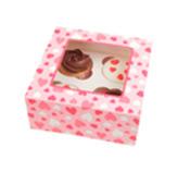 Caja Pretty Princess para 4 Cupcake en Set de 2 Piezas Daisy Darcy