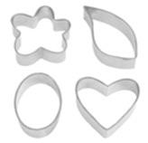 Cortador de Fondant Flower Heart en Set de 4 Piezas Wilton