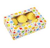 Caja Dots para Cupcake  x 6 en Set de 2 Piezas