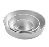 Molde Redondo de Aluminio en Set de 3 Piezas Wilton