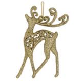 Adorno Navideño Colgante con Diseño de Reno Oro