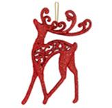 Adorno Navideño Colgante con Diseño de Reno Rojo
