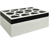 Joyero Blanco con Negro  Calado Concepts