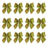 Lazos para Regalo Verde Rojo en Set de 12 Piezas