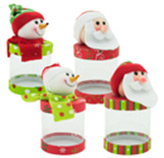 Caja para  Regalo  Santa y Muñeco de Nieve