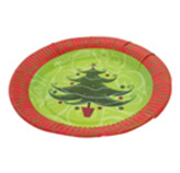 Platos Desechables con Diseño de Árbol en Set de 10  Piezas