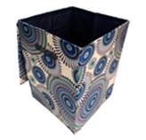 Canasta  con Tapa Beige Azul  Concepts