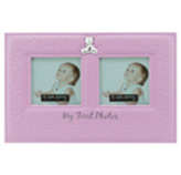 Porta Retrato Rosado con 2 Divisiones Concept