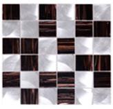 Mosaico de Vidrio con Metal Café 31.8x31.8cm (.101)
