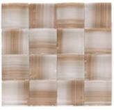 Mosaico de Cristal Trenzas Beige Café  24.8x24.8cm