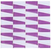 Mosaico de Cristal Triangulo Blanco Lila  29.8x29.8cm