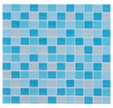 Mosaico de Cristal  Mix Azul 30x30cm (0.09)