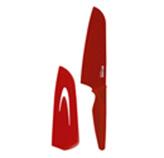 Cuchillo Santoku Rojo  7